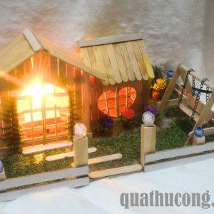 mô hình nhà que kem