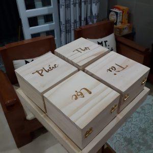hộp đựng mứt bằng gỗ