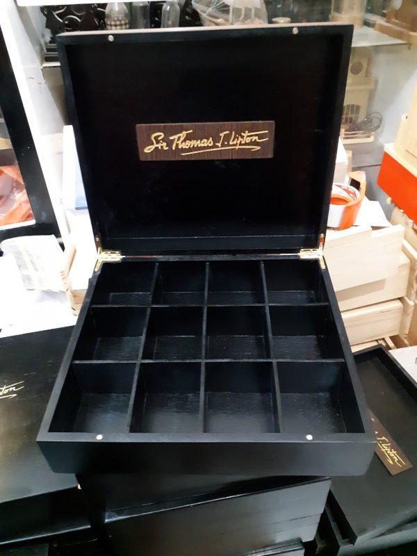 hộp đựng trà bằng gỗ