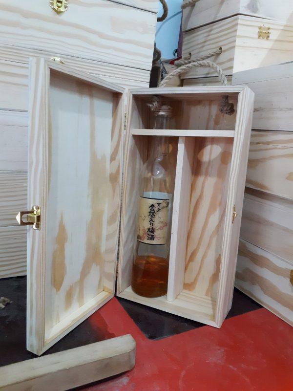 hộp gỗ đựng rượu đôi